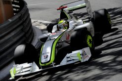 Foto Poster Jenson Button tijdens de GP van Monaco, F1 Brawn GP Team 2009