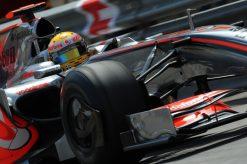 Foto Poster Lewis Hamilton tijdens de GP van Monaco, F1 McLaren Team 2009