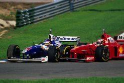 F1 Poster Michael Schumacher met Jacques Villeneuve Jerez, Ferrari 1997