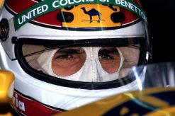 Foto Poster Nelson Piquet Helm shot, F1 Benetton Team 1991