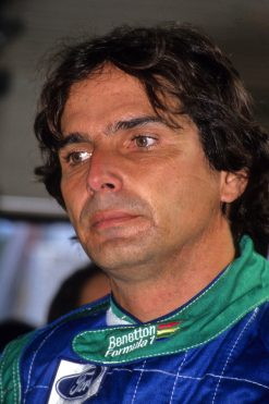 Foto Poster Nelson Piquet Portret, F1 Benetton Team 1990