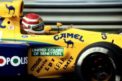 Foto Poster Nelson Piquet in actie, F1 Benetton Team 1991