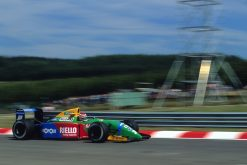 Foto Poster Nelson Piquet in actie, F1 Benetton Team 1990
