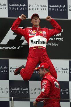 F1 Poster Michael Schumacher op het podium, Ferrari 2004