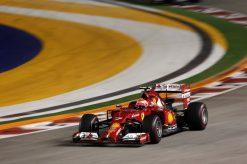 Kimi Raikkonen - Ferrari tijdens de Grand Prix van Singapore 2014