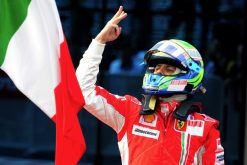 Foto Poster Felipe Massa winnaar, F1 Ferrari Team 2008