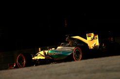 Foto Poster Lewis Hamilton tijdens de GP van Abu Dhabi, F1 Mercedes Team 2015