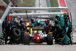 Foto Poster Lewis Hamilton tijdens de GP van Amerika, F1 Mercedes Team 2015