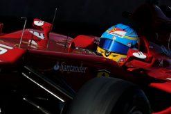 Foto Poster Fernando Alonso in actie tijdens de F1 GP Amerika 2012