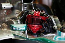 Foto Poster Lewis Hamilton tijdens de GP van Amerika, F1 Mercedes Team 2013