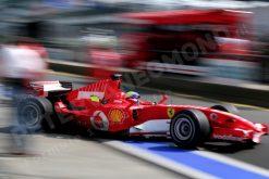 Foto Poster Felipe Massa in actie, F1 Ferrari Team 2006