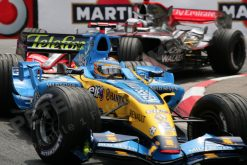 Foto Poster Fernando Alonso in Actie 2007