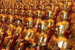 Beeldjes in Boeddha Tempel in Shanghai