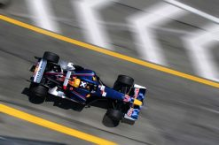Foto Poster David Coulthard tijdens de GP van San Marino, F1 Red Bull Racing Team 2005
