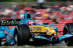 Foto poster Fernando Alonso in actie 2005
