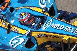 Foto Poster Fernando Alonso in actie tijdens de GP van Spanje 2005