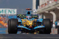 Fernando Alonso in actie tijdens de GP van Turkije 2005