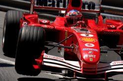 Foto Poster Rubens Barrichello in actie tijdens de GP van Monaco, F1 Ferrari Team 2005