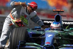 Foto Poster Jenson Button tijdens de GP van Canada, F1 Honda Racing Team 2007