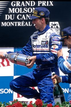 Foto Poster Damon Hill Podium tijdens de GP van Canada, F1 Williams Team 1996