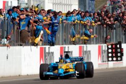 Foto Poster Fernando Alonso Wint F1 Grand Prix Hongarije 2003
