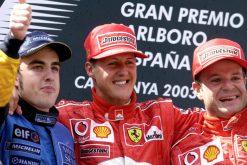 F1 Poster Michael Schumacher winnaar, Ferrari 2003