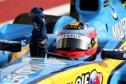 Foto Poster Fernando Alonso wint de F1 Grand Prix Bahrein 2005