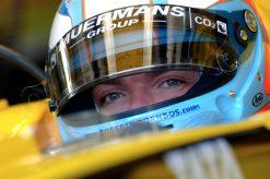 Foto Poster Robert Doornbos tijdens de GP van San Marino, F1 Jordan Team 2005