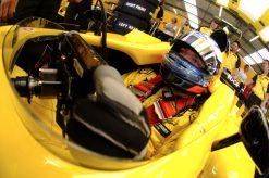 Foto Poster Robert Doornbos tijdens de GP van Engeland, F1 Jordan Team 2005