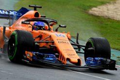 Fernando Alonso - McLaren in actie tijdens de Grand Prix van Australie, Formule 1 Seizoen 2018