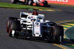 Marcus Ericsson - Sauber in actie tijdens de Grand Prix van Australie, Formule 1 Seizoen 2018