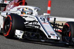 Marcus Ericsson - Sauber in actie tijdens de GP van Bahrein, Formule 1 Seizoen 2018