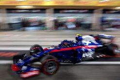 Pierre Gasly - Toro Rosso in actie tijdens de GP van Bahrein, Formule 1 Seizoen 2018