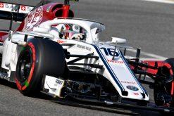Charles Leclerc - Sauber in actie tijdens de GP van Bahrein, Formule 1 Seizoen 2018
