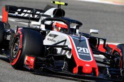 Kevin Magnussen - Haas in actie tijdens de GP van Bahrein, Formule 1 Seizoen 2018