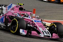 Esteban Ocon - Force India in actie tijdens de GP van Bahrein, Formule 1 Seizoen 2018
