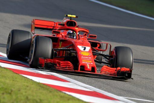 Kimi Raikkonen Ferrari GP China 2018 als Poster