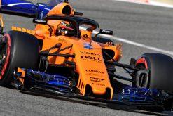 Stoffel Vandoorne - McLaren in actie tijdens de GP van Bahrein, Formule 1 Seizoen 2018