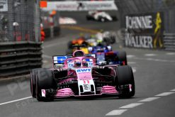 Sergio Perez - Force India in Actie tijdens de GP van Monaco - Monte Carlo Formule 1 Seizoen 2018