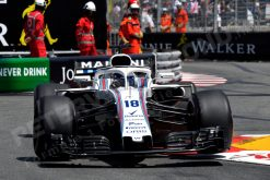 Lance Stroll - Williams in Actie tijdens de GP van Monaco - Monte Carlo Formule 1 Seizoen 2018