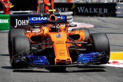 Stoffel Vandoorne - McLaren in Actie tijdens de GP van Monaco - Monte Carlo Formule 1 Seizoen 2018