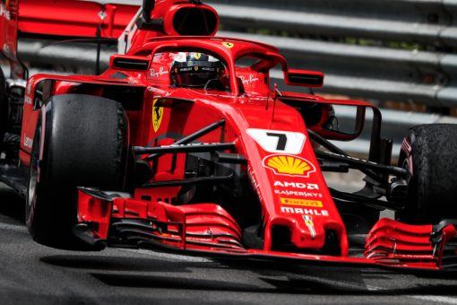 Kimi Raikkonen Ferrari GP Monaco 2018 als Poster