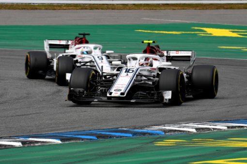Charles Leclerc Actie - GP Duitsland 2018
