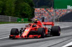 Kimi Raikkonen Ferrari GP Oostenrijk 2018 als Poster
