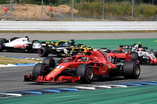 Kimi Raikkonen Ferrari GP Duitsland 2018 als Poster