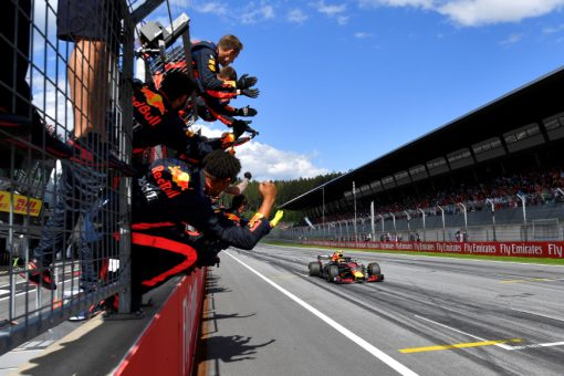 Max Verstappen, Red Bull Racing GP Engeland 2018 als Poster