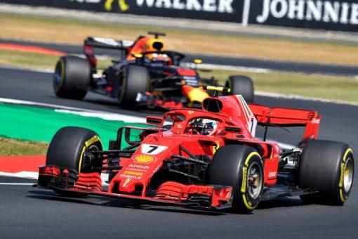 Kimi Raikkonen Ferrari GP Engeland 2018 als Poster