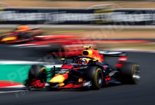 Max Verstappen Red Bull Racing GP Engeland 2018 als Poster