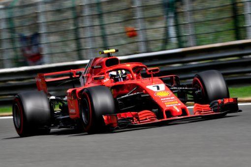 Kimi Raikkonen Ferrari GP Belgie 2018 als Poster