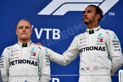 Lewis Hamilton en Valtteri Bottas